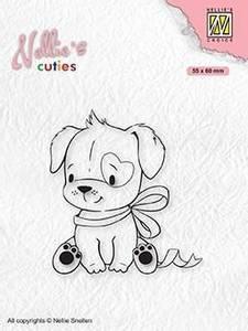 Bilde av Nellie Snellen - Clear stamp - NCCS015 - Dog with christmas bow
