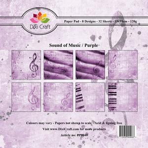Bilde av Dixi Craft - Paper Pad 15x15 - 040 - Sound of Music - Purple