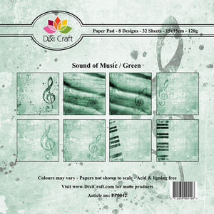 Bilde av Dixi Craft - Paper Pad 15x15 - 042 - Sound of Music - Green