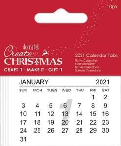 Bilde av Docrafts - Papermania - Calendar Tabs 2021 - 10 stk i pk