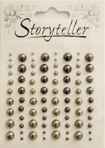 Bilde av Storyteller - Halvperler - ST-009605 - Lys og mørk brun