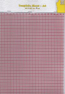 Bilde av Nellie Snellen - Stamping Buddy - Plastic Template sheets A4 5st