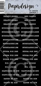 Bilde av Papirdesign - Klistremerker - 1900290 - Gratulerer 2 , sort