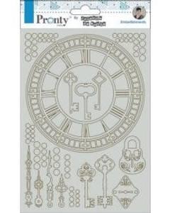 Bilde av Pronty Crafts - Chipboard - A5 - Clocks By Jolanda