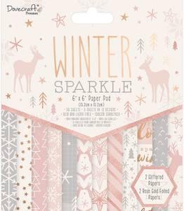 Bilde av Dovecraft - 6x6 Paper Pad - Winter Sparkle
