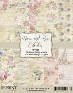Bilde av Reprint - 6x6 - RPP027 - Music & Roses Collection Pack