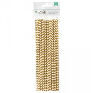 Bilde av American Crafts - Lollipop Sticks 368998 - GOLD CHEVRON