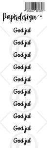 Bilde av Papirdesign - Transparent Stickers - 1900180 - God jul 1