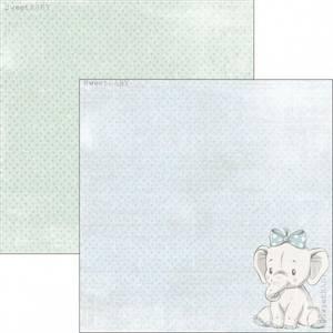 Bilde av Reprint - 12x12 - RP0306 - Sweet Baby - Blue Elephant