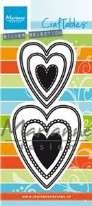 Bilde av Marianne Design - Craftables dies - CR1461 - Nest die hearts (M)