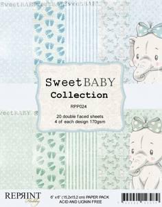 Bilde av Reprint - 6x6 - RPP024 - Sweet Baby Collection pack Blue
