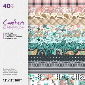 Bilde av Crafter's Companion - Paper Pad 12x12 - Traditional Florals