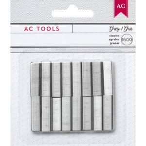 Bilde av American Crafts - 366945 - Mini Stapler Refill Staples - Gray