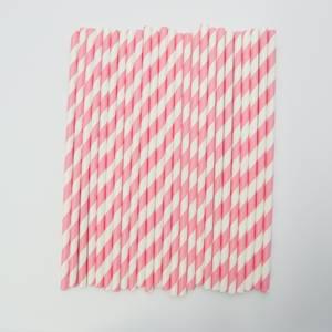 Bilde av Kort & Godt - Sugerør - XG210 - hvit-rosa striper