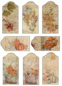 Bilde av Reprint -  A4 Klippeark - KP0085 - Vintage Fall - Cutouts