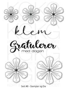 Bilde av Kort & Godt - Stempel og Die - Sett #8 - Blomster