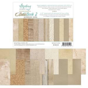Bilde av Mintay - 6x8 paper pad - Basic Book 02 - Backgrounds - Neutral
