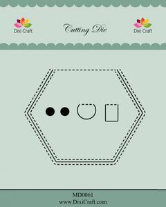 Bilde av Dixi Craft - Dies - MD0061 - Peek A Boo - Hexagon